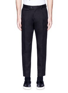 Dolce & Gabbana Slim fit pleated cotton pants