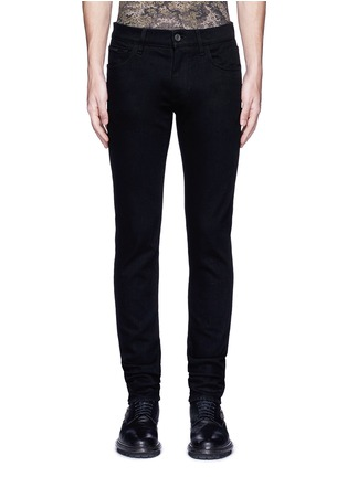 Detail View - Click To Enlarge - Dolce & Gabbana - 'Stretch 14' slim fit embroidered jeans