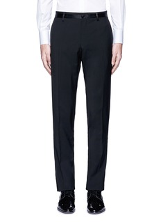 Dolce & Gabbana Slim fit satin trim wool tuxedo pants