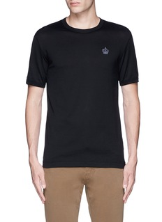 Dolce & GabbanaCrown embroidery T-shirt