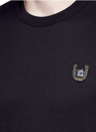 Detail View - Click To Enlarge - Dolce & Gabbana - Horseshoe embroidery T-shirt