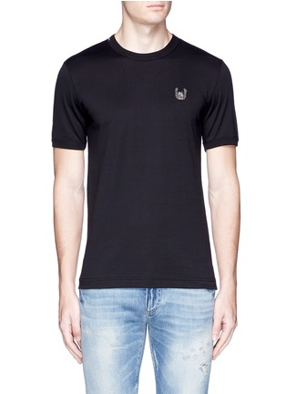 Main View - Click To Enlarge - Dolce & Gabbana - Horseshoe embroidery T-shirt