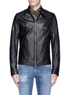 Dolce & Gabbana Leather racer jacket