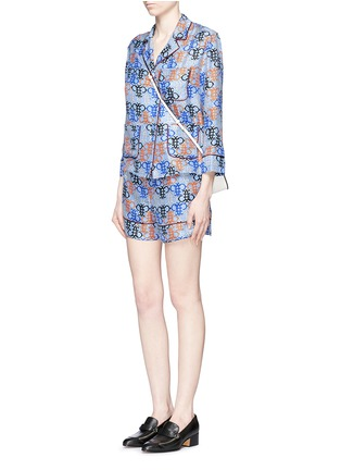 Figure View - Click To Enlarge - Emilio Pucci - Monogram print silk pyjama shorts