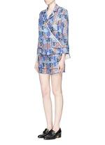 Monogram print silk pyjama shorts