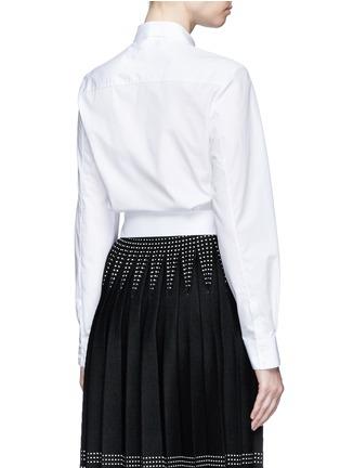 Back View - Click To Enlarge - Alaïa - Pocket cropped poplin shirt
