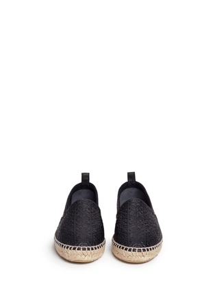 Loewe - x John Allen engraved anagram leather espadrilles