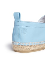 Lambskin leather espadrilles