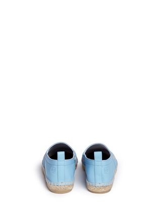 Back View - Click To Enlarge - LOEWE SHOES - Lambskin leather espadrilles