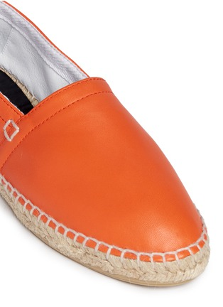 Detail View - Click To Enlarge - LOEWE SHOES - Lambskin leather espadrilles