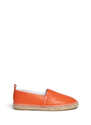 Main View - Click To Enlarge - LOEWE SHOES - Lambskin leather espadrilles