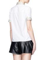 'Morag Pop' contrast webbing poplin shirt