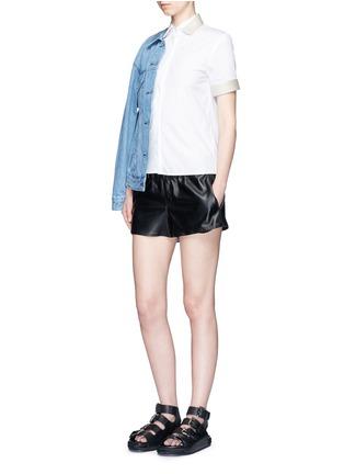 Acne Studios-'Morag Pop' contrast webbing poplin shirt
