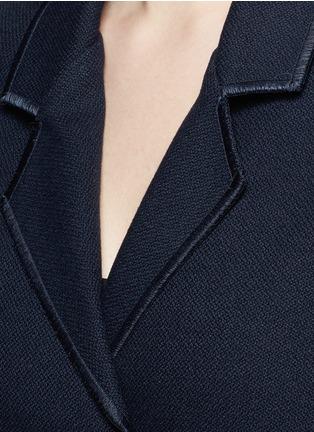 Detail View - Click To Enlarge - Acne Studios - 'Bariah Panama' asymmetric belt cotton-wool coat