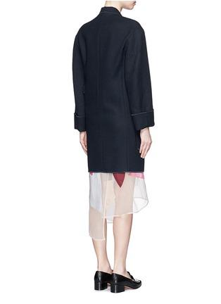 Back View - Click To Enlarge - Acne Studios - 'Bariah Panama' asymmetric belt cotton-wool coat