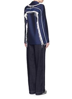ACNE STUDIOS'Deana' fringe trim wool-mohair coat
