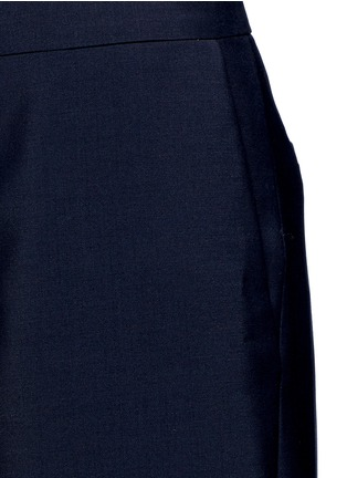 Detail View - Click To Enlarge - Acne Studios - 'Haddie' asymmetric cuff wool-mohair wide leg pants