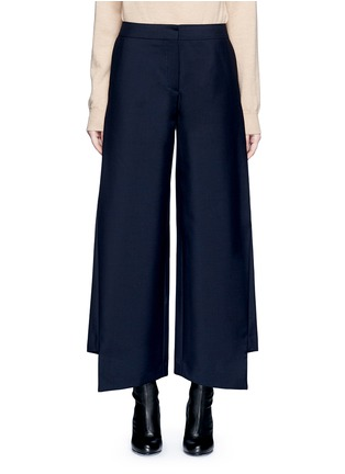 Main View - Click To Enlarge - Acne Studios - 'Haddie' asymmetric cuff wool-mohair wide leg pants