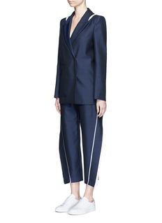 ACNE STUDIOS'Harriet' fringe trim wool-Mohair cropped pants