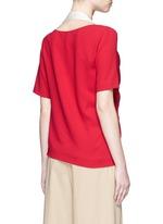 'Maddock Sable' drape crepe top