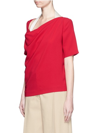 Front View - Click To Enlarge - Acne Studios - 'Maddock Sable' drape crepe top