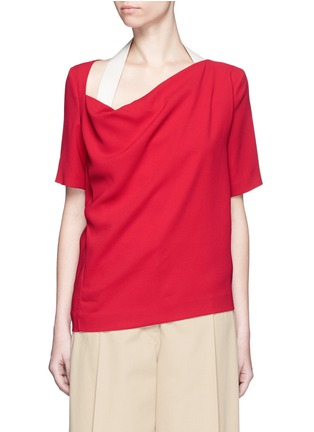 Main View - Click To Enlarge - Acne Studios - 'Maddock Sable' drape crepe top