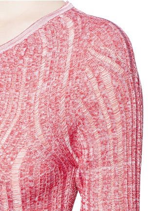 Detail View - Click To Enlarge - Acne Studios - 'Marcy Moulin' ladder stitch rib knit sweater