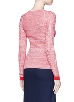 'Marcy Moulin' ladder stitch rib knit sweater