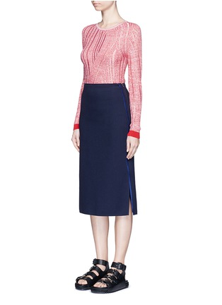模特儿示范图 - 点击放大 - ACNE STUDIOS - 凹凸条纹拼接针织衫