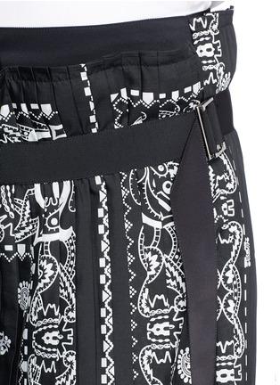Sacai-Bandana print pleat poplin long shorts
