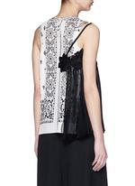 Bandana print plissé pleat combo sleeveless top
