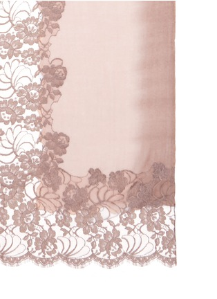 Detail View - Click To Enlarge - Janavi - Floral lace ombré effect cashmere scarf