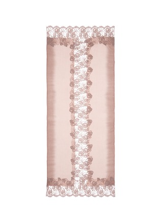 Main View - Click To Enlarge - Janavi - Floral lace ombré effect cashmere scarf