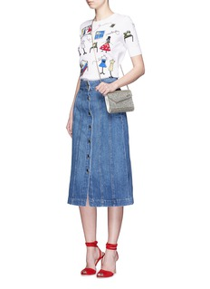 ALICE + OLIVIA'Stacey Doodle' embroidery front sweater