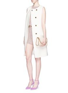 ALICE + OLIVIA'Marisa' polka dot jacquard zip shorts
