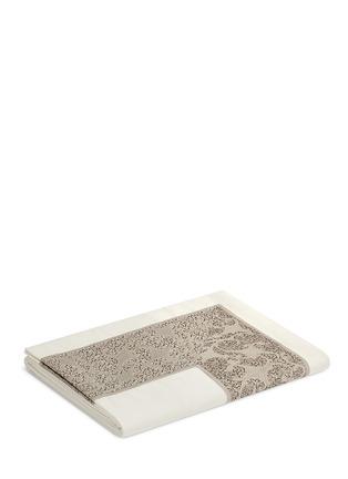 Frette-Gotico jacquard border king size top sheet