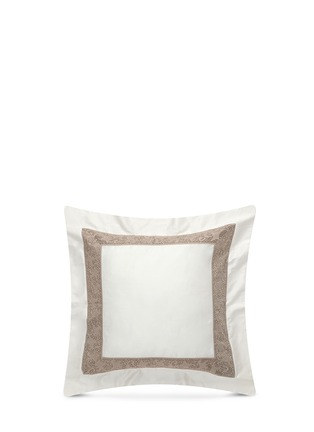 Main View - Click To Enlarge - Frette - Gotico jacquard border Euro sham