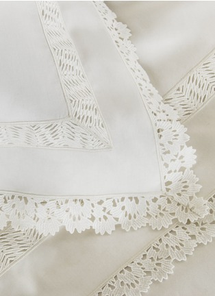Detail View - Click To Enlarge - Frette - Sempione Lace standard sham
