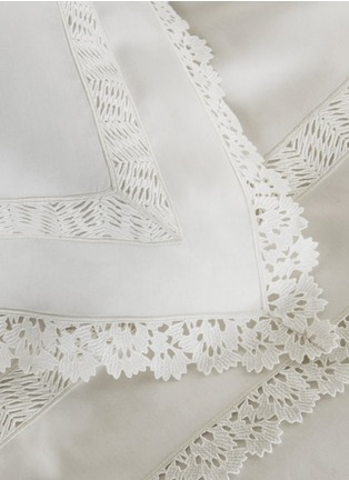 Detail View - Click To Enlarge - Frette - Sempione Lace Euro sham