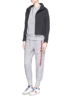 HAUS GOLDEN GOOSE Marled cotton fleece jersey jogging pants