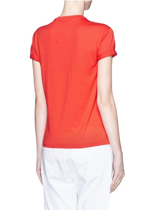 Back View - Click To Enlarge - T By Alexander Wang - Roll cuff superfine cotton T-shirt