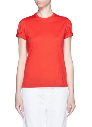 Main View - Click To Enlarge - T By Alexander Wang - Roll cuff superfine cotton T-shirt