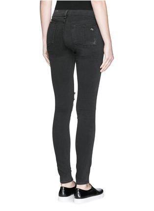 背面 - 点击放大 - RAG & BONE/JEAN - 弹性紧身破洞牛仔裤