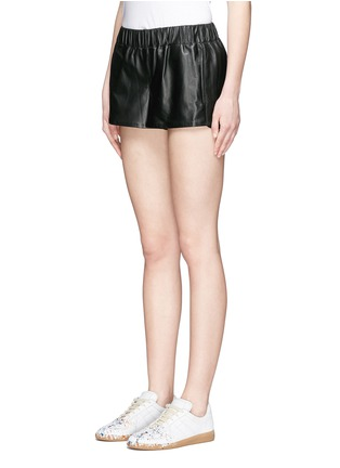 Front View - Click To Enlarge - rag & bone/JEAN - 'Pajama' elastic waist leather shorts