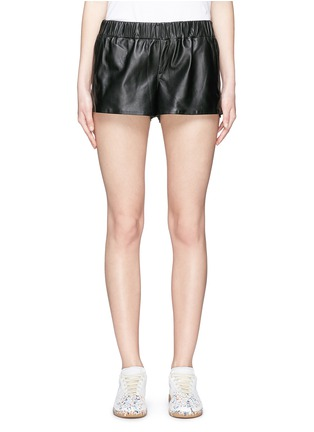 Main View - Click To Enlarge - rag & bone/JEAN - 'Pajama' elastic waist leather shorts