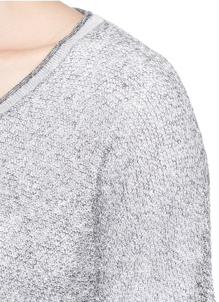 Detail View - Click To Enlarge - rag & bone/JEAN - 'Skye' sheer linen knit sweater
