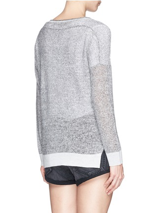 Back View - Click To Enlarge - rag & bone/JEAN - 'Skye' sheer linen knit sweater