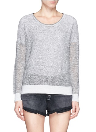 Main View - Click To Enlarge - rag & bone/JEAN - 'Skye' sheer linen knit sweater
