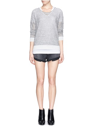 Figure View - Click To Enlarge - rag & bone/JEAN - 'Skye' sheer linen knit sweater