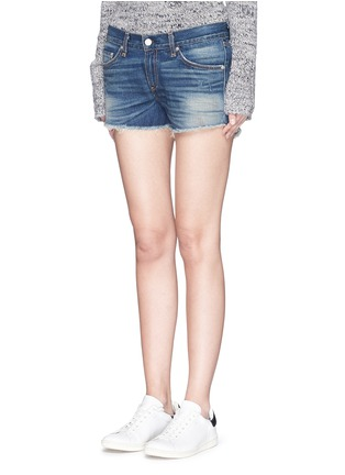 Front View - Click To Enlarge - rag & bone/JEAN - 'Cut-off' cotton denim shorts